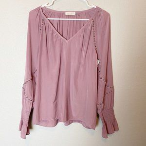 Ramy Brook Willa Blouse in Rose Small NEW